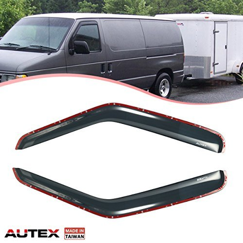 - AUTEX 2Pcs in Channel Window Visor Fits for 1992-2006 Ford E150 E250 E350 2000 2001 2002 2003 2004 2005 2006 Ford E450 2002 2003 Ford E550 1996-1999 Ford Econoline Super Duty Window Deflector
