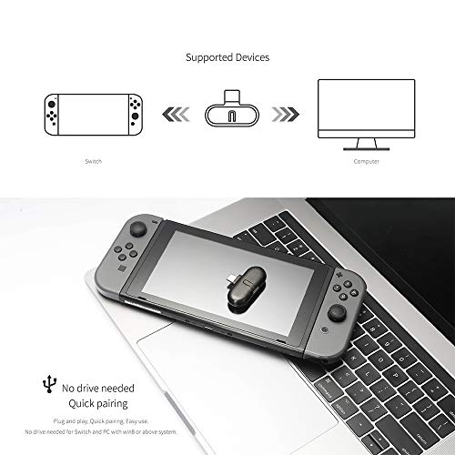 Jual Wireless Bluetooth Adapter For Nintendo Switch, USB Type-C Wireless Headset Receiver And