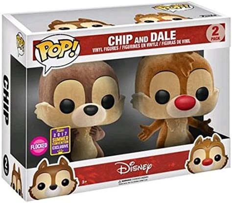 Chip /& Dale Flocked Vinyl Figures 2 Pack SDCC 2017 Exclusive Funko POP Disney