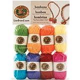 Lion Brand Yarn 601-680 Bonbons Yarn, Crayons