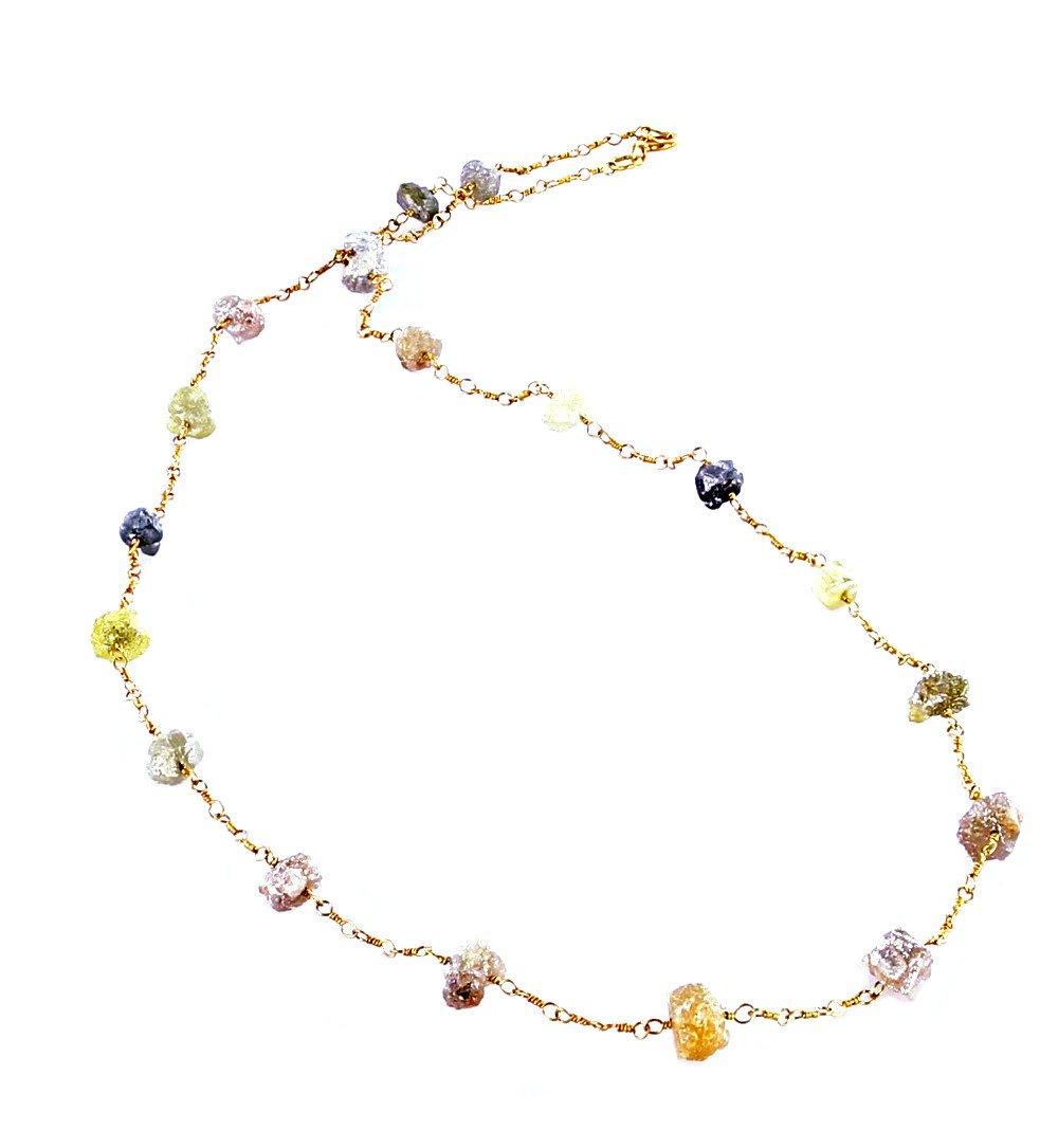 granos del diamante drusy collar de oro de 16