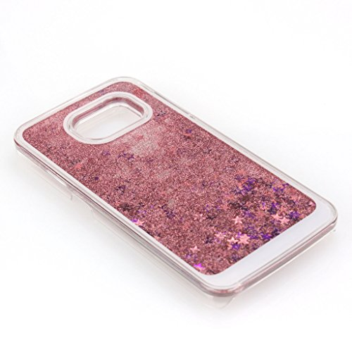 Aenmil® Samsung Galaxy Note 5 Quicksand Cover, 3D Bling Liquid Case for Note 5,Flowing Liquid Floating Quicksand Sparkle Star Glitter Hard Case for Samsung Galaxy Note 5(Pink)