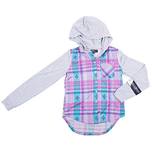 393222-pnk-4t-girls-plaid-print-hooded-shirt-long-sleeve-high-low-top