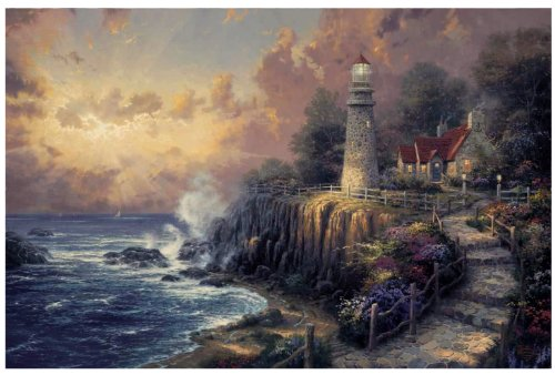 Plaid Creates Paint by Number Kit (16 by 20-Inch), 21786 Light of Peace by Thomas Kinkade