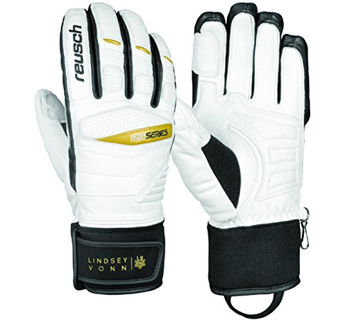 Reusch Snowsports Women's Lindsey Vonn Signature Ski Gloves, Small, White/Black
