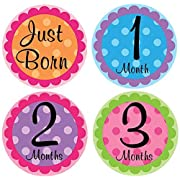 Belly Doodles 16 Monthly Baby Stickers Polka Dots