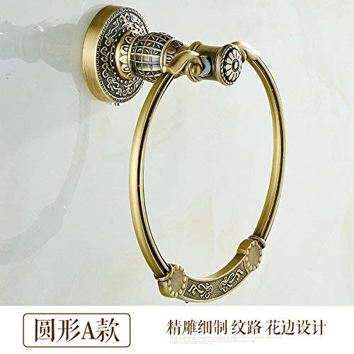 Xixuanstore Antique rass Towel Ring Towel Ring (Color : A)