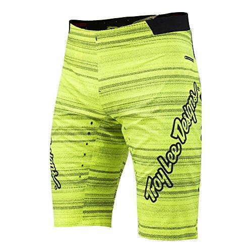 Troy Lee Designs Mens Ace Distorted BIB BMX Racing Short, Lime Green, 36