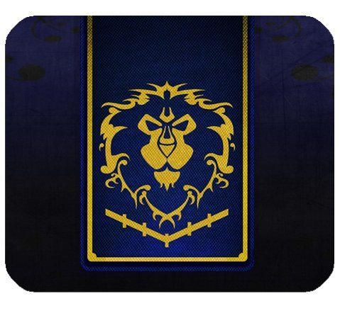 Alliance World Of Warcraft Mousepad Personalized Custom Mouse Pad Oblong Shaped In 9.84