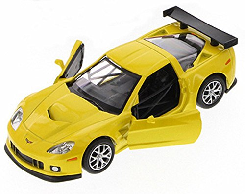 Chevy Corvette C6-R, Yellow - Uni-Fortune 555003Z - 1/32 Scale Diecast Collectible Model Toy Car (Brand New, but NO BOX) (C6 Diecast Car Model)