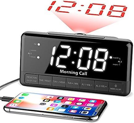 """iLuv Morning Call 2 Wireless Bluetooth Speaker Jumbo 1.4/"""" LED Display Dual Alarm"""