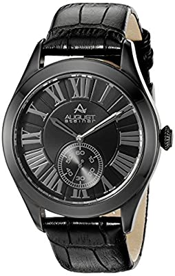 August Steiner Men's AS8203 Multifunction Quartz Watch with a Stylish Dial and Embossed Leather Strap