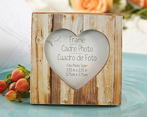 100 ''Rustic Romance'' Faux-Wood Heart Place Card Holder/Photo Frame by Kate Aspen (Image #1)