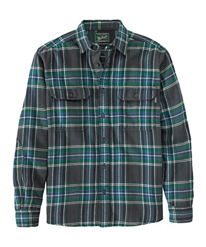 Woolrich Men's Oxbow Bend Flannel Shirt, Forest Green, X-...