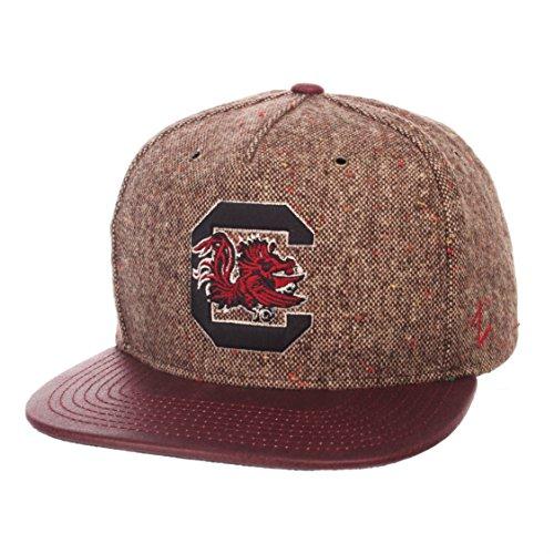 ZHATS NCAA South Carolina Fighting Gamecocks Men's Legend Heritage Collection Hat, Adjustable, Tweed