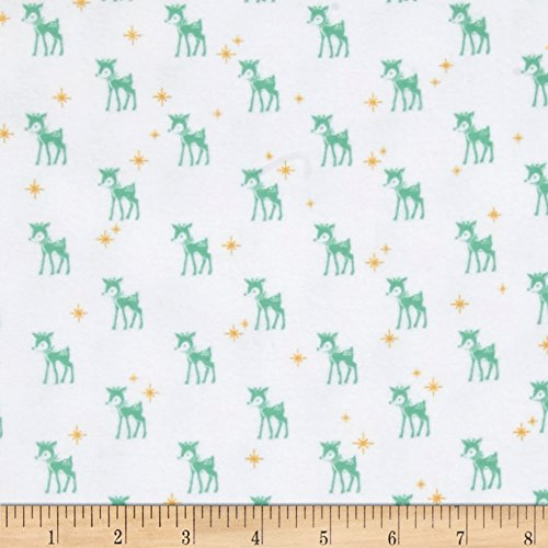 Riley Blake Cozy Christmas Flannel Reindeer White Fabric By The Yard
