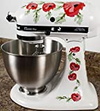 kitchenaid mixer flower - Red Poppy Flowers Watercolor Kitchenaid Mixer Mixing Machine Decal Art Wrap