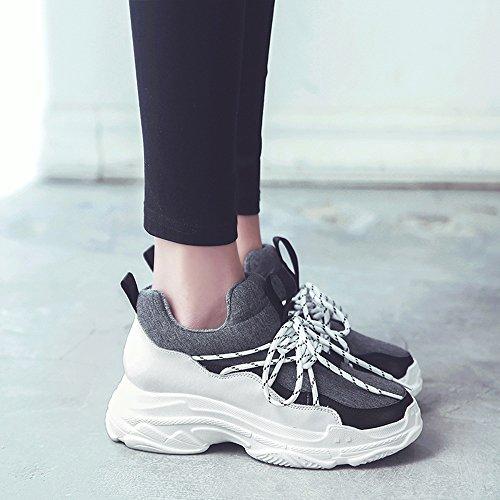 coréenne pour Version Bf Chaussures Noir taille Shooting Gris douillet Chaussures Sport Chaussures femmes Ultra Street LVZAIXI Fire Couleur chaussures Wind CN36 UK4 EU36 0qvxYw