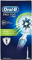 Oral-B PRO700CrossAction Brosse à Dents Électrique Rechargeable par Bleu, 1Manche, 1Brossette