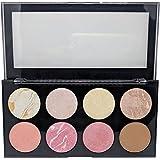 Sivanna Women's Colors Pro HD Blusher/Highlighter/Contour Palette, 18g