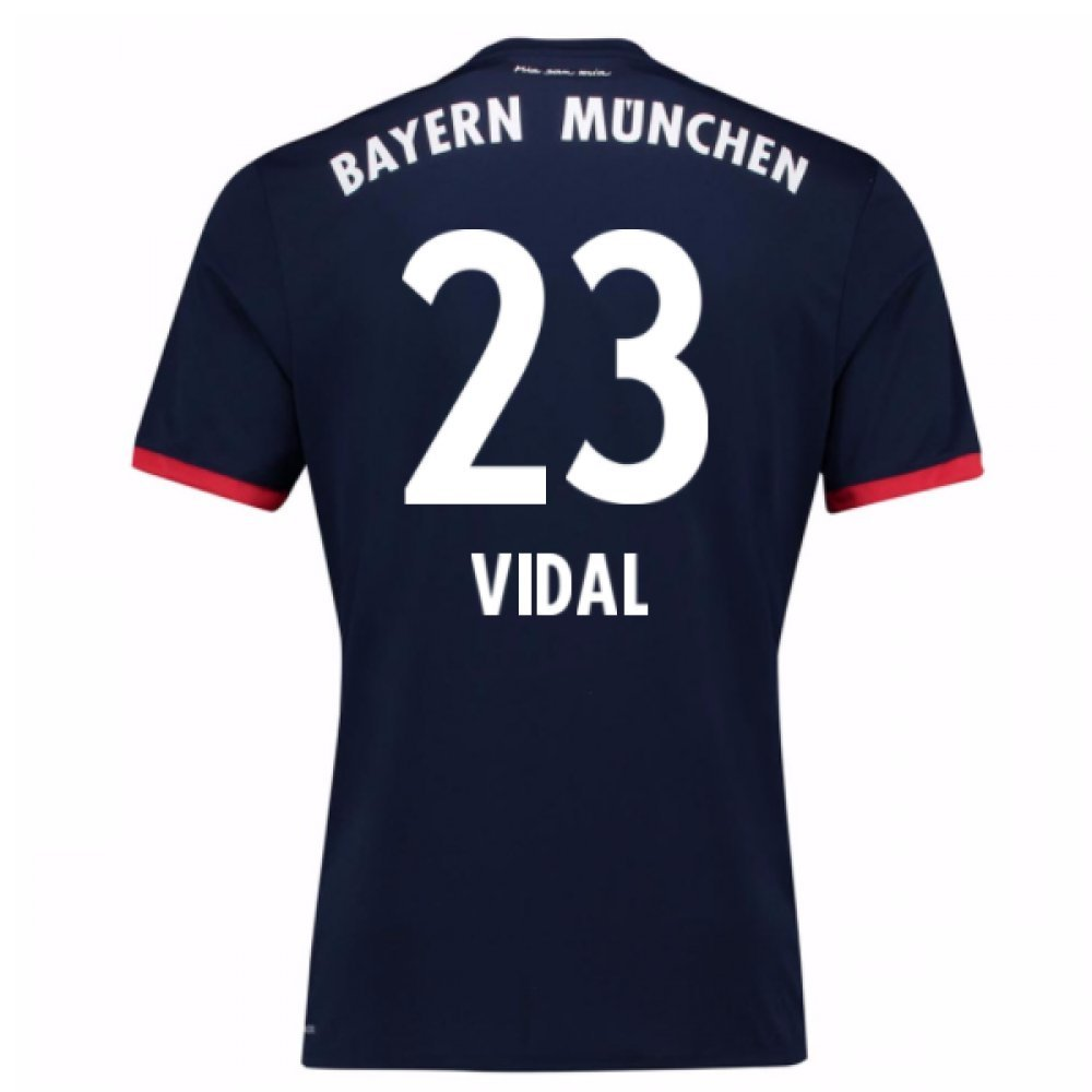 2017-18 Bayern Away Football Soccer T-Shirt Trikot (Arturo Vidal 23)