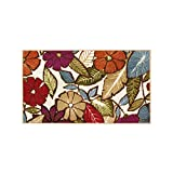 Cheap Modern Living Flowers Decorative Area Accent Rug, 18 by 30-Inch