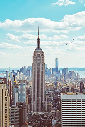 Empire State Building Midtown Manhattan New York City NYC Art Deco Skyscraper Photo Mural Giant Poster 36x54 inch