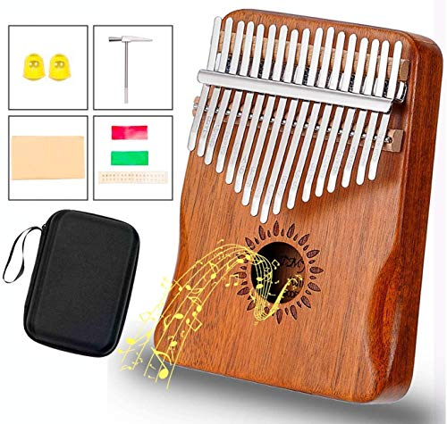 Kalimba 17 Key Thumb Piano Upgrade Design Acacia Wood Protective Case Tune Hammer Portable Handmade African Musical Instrument for Kids Adult Beginners Professionals