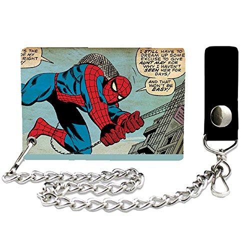 (Silver Buffalo MC3501CW Marvel Spiderman Chain Wallet)