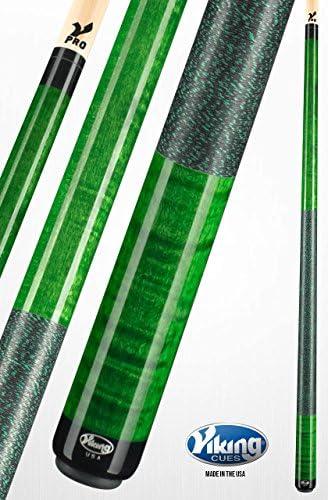Viking A246 taco de billar palo verde esmeralda manchas rizado ...