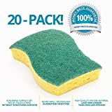 #5: STK 20-Pack Multi-Use Heavy Duty Scrub Sponge-Never Smell Technology Viscose Sponges-100% Biodegradable & Eco Friendly-Kitchen-Bathroom-Car-Individually Wrapped