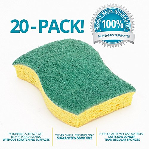 Stk 20 pack multi use heavy duty scrub sponge never smell technology viscose sponges 100 - Seven different uses of the kitchen sponge ...