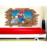 Super Mario Wall Decal. Removable Vinyl Sticker. Super Mario Bedroom Window Nursery Decor C2140
