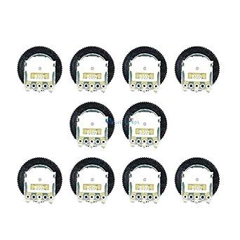10PCS B103 10K Ohm 3-Pin Single Linear Dial Wheel Potentiometer 16MM x 2MM
