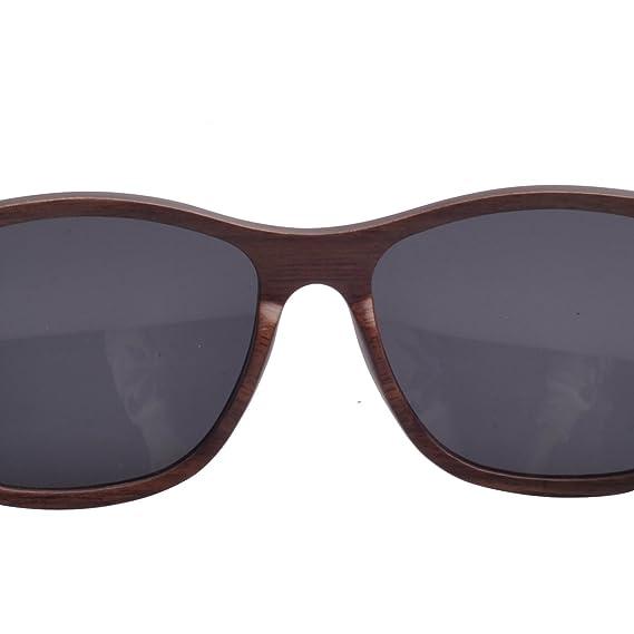 Iwood Schichtholz Black Walnut Holz Sonnenbrille polarisierte Objektiv Grau wE2ybrj2