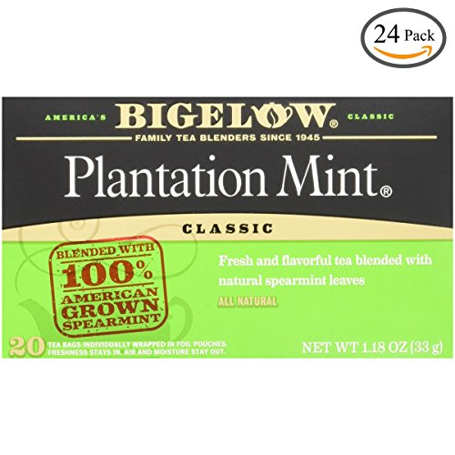 Bigelow Plantation Mint Tea, 20-Count Boxes (Pack of 24) by Bigelow Tea