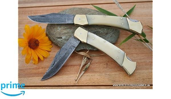 Cuchillo de Damasco Big worker hueso tiempo similar a ...
