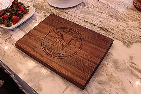 Personalized Cutting Board - Anniversary Gift - Wedding Gift - Memorabilia - Chopping block - Naked Wood - Finish Cutting Boards