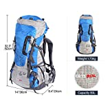 REDCAMP 80L Internal Frame Hiking Backpack with Rain Cover