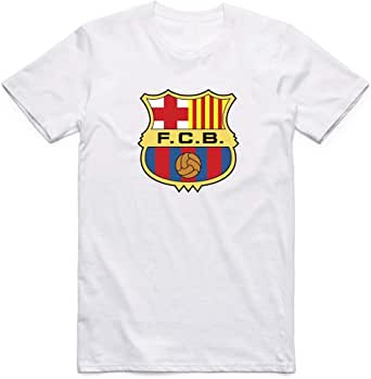 Barcelona T-Shirt For Men, Size XL, Color White