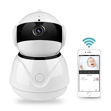 Cámara de seguridad inalámbrica 1080P para interiores con WiFi para el hogar, cámara panorámica TEEPAO