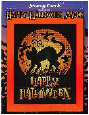 Happy Halloween Moon Cross Stitch Chart and Free Embellishment]()