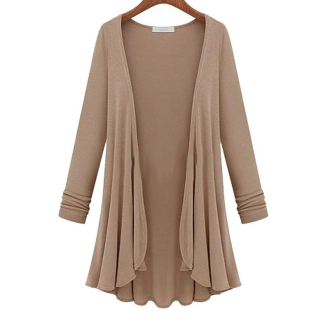 AIMEE7 Femmes Mode Top Slim Blouse Manches Longues Cardigan Chandail Manteau