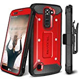 LG K7 / LG Tribute 5 / LG Treasure LTE Case, Evocel [Explorer Series] Premium Full Body Case with Rugged Belt Clip Holster for LG K7 (MS330) / LG Tribute 5 (LS675) / LG Treasure LTE (L52VL), Red