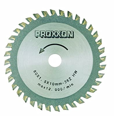 Proxxon 28732 3-9/64-Inch 80mm Carbide Tipped Saw Blade 36-Teeth from Proxxon