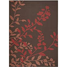 Safavieh CY7019-303-8 Courtyard Collection Chocolate & Red Indoor/ Outdoor Area Rug (8' x 11')
