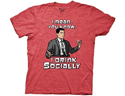 Ripple Junction Archer Social Drinker Adult T-Shirt