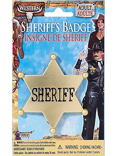 Forum Novelties Sheriff Star Badge - Plastic,Multi color,One size