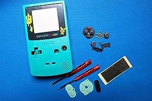 YHC Green Pikachu Housing Shell Case w/Screwdrivers for Nintendo Gameboy Color GBC