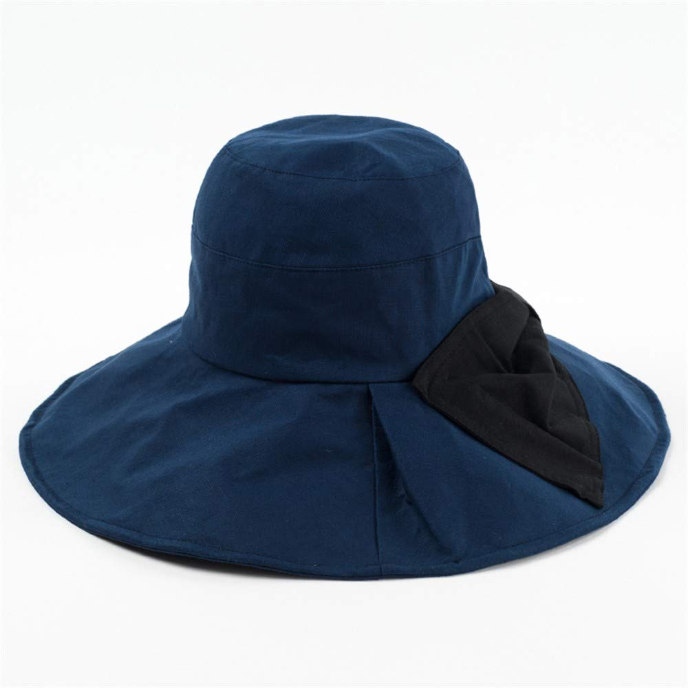 C Ladies Sun Hat Beach Hats,Hat Woman Folding Sunscreen Summer Outdoor Big Along Excursion Seaside Beach hat Shade Big Eaves Sun hat